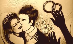 Песочная фантазия для влюбленных